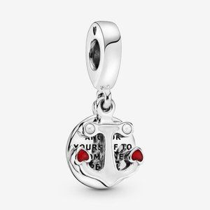 🌸Pandora Anchor and Hearts Dangle Charm
